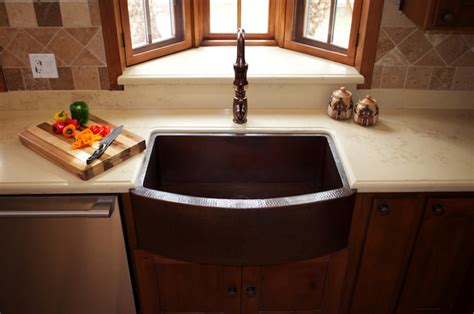 copper sink installations traditional kitchen los