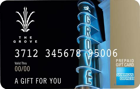 The Grove Gift Card - five star concierge and bellman shopping services at the grove la