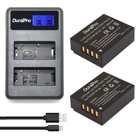 Battery Baterai Fujifilm Np W126 For Fuji Xm1 Xa1 Xa2 Xa3 Xt Limited 2pcs np w126 np w126 rechargeable battery usb lcd charger for fujifilm hs50 hs35 hs33