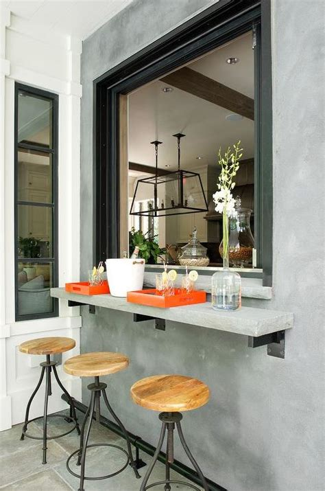 pass through window breakfast bar pass through design ideas