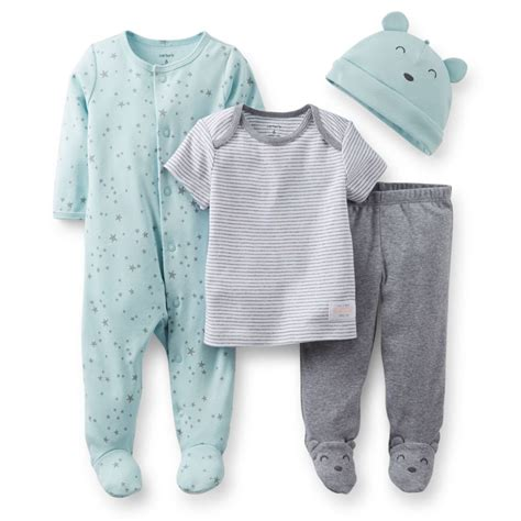 Carters Boy Pant 369121824 Month carters newborn 3 6 9 months pajama hat set baby boy clothes ebay