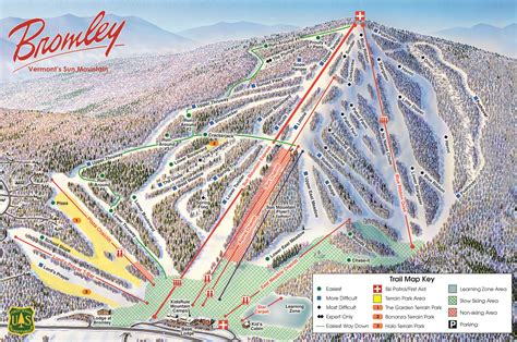 skiing usa map bromley piste maps