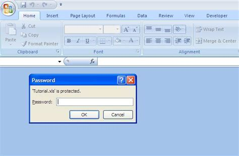 how to open a password protected excel file using vba