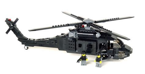 P L Helikopter Set custom army black hawk helicopter uh 60 minigun