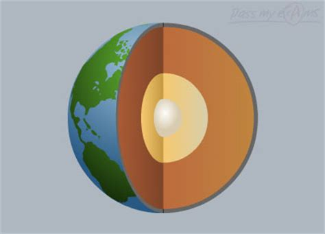 cross section of earth the earth pass my exams easy exam revision notes for