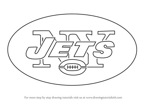 jets football coloring pages learn how to draw new york jets logo nfl step by step