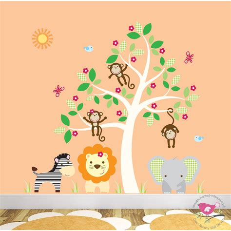 jungle nursery wall stickers deluxe safari nursery wall stickers
