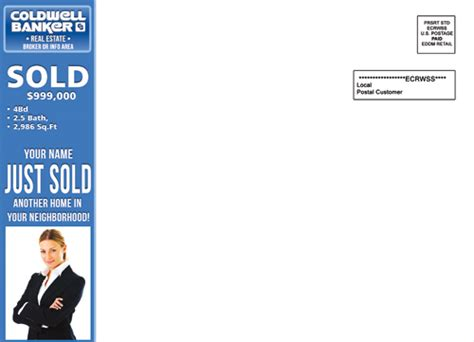 eddm template coldwell banker eddm just sold postcards