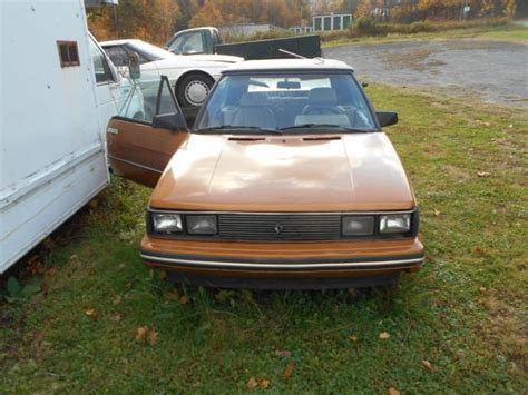 renault alliance tan 1985 renault alliance convertible for parts or restore