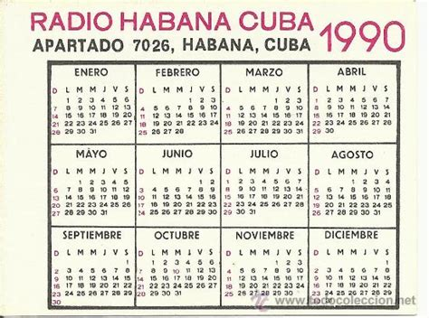 Calendario De 1990 Abril 2013 Acervo Do Vale