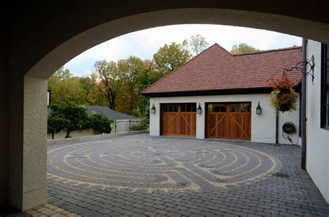 Garage Arch by Carriage Style Garage Doors Exterior Farmhouse With Brick