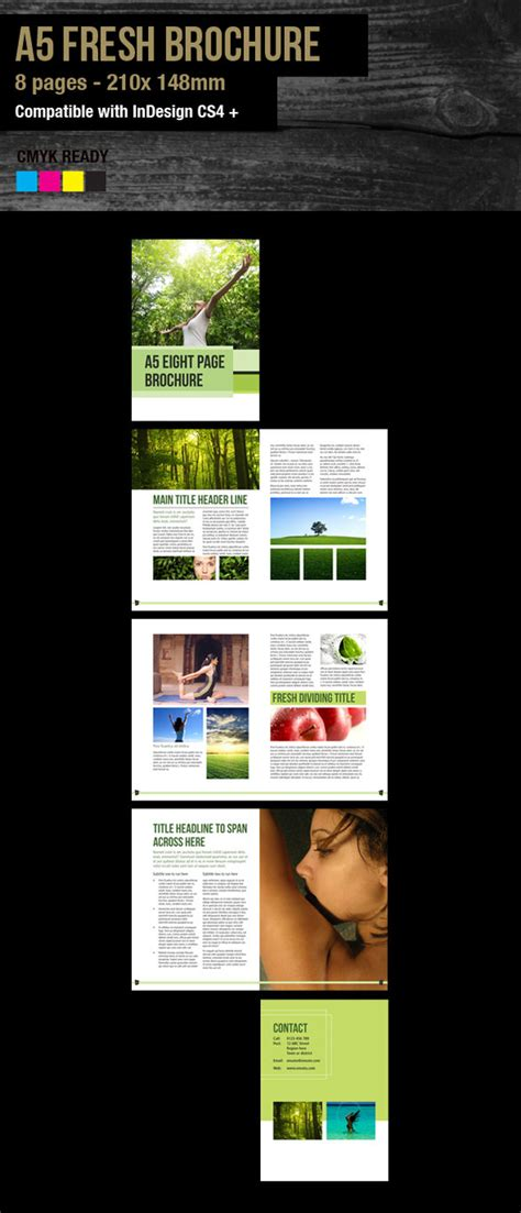 indesign template brochure a5 indesign a5 brochure fresh template by sleight0fhand on