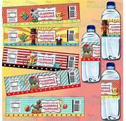Etiquetas Para Bote De Agua Fiesta Circo Carnaval