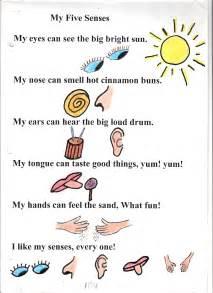 poem no 4 my five senses grade 1