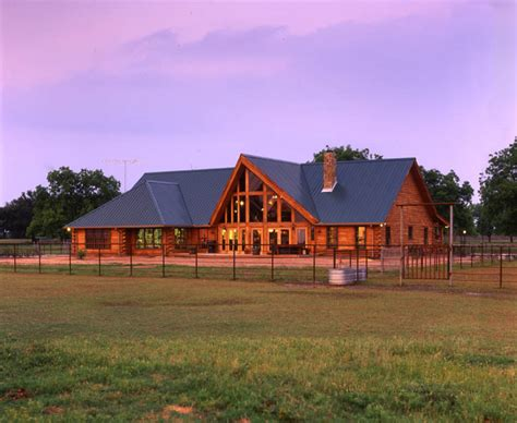 Log Cabin Open Floor Plans by Circle 9 Ranch A Real Log Home Texas Retreat 171 Real Log Style