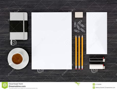 portfolio mockup templates top view of branding identity stationery mock up on black
