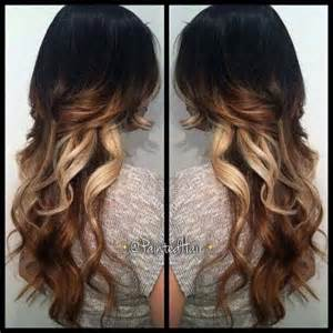 tri colored hair tri color ombre hair hair