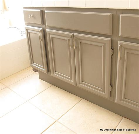 painted cabinets bathroom how to paint oak cabinets
