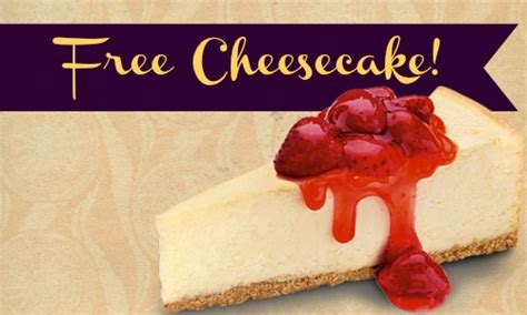 Where Can I Buy A Cheesecake Factory Gift Card - cheesecake factory offer free cheesecake southern savers
