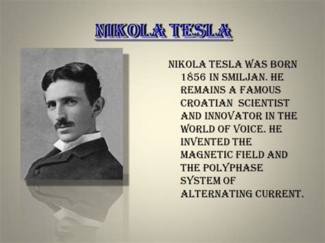 born nikola tesla city of gospić made by matej viliam krešo ppt