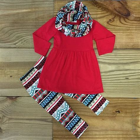 red tribal scarf outfit boutique outfit girl outfits