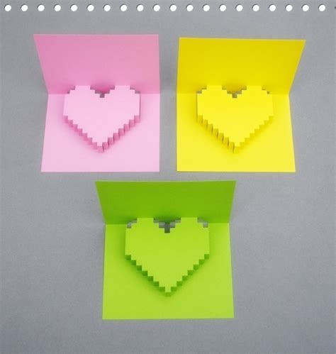 How To Make A Paper Card - how to make 3d shape greeting card
