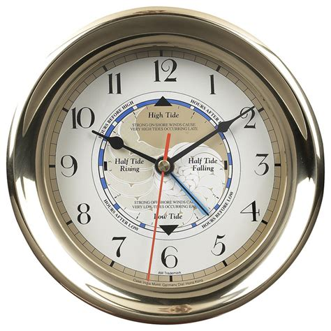 houzz clocks captain s time and tide clock traditional wall clocks