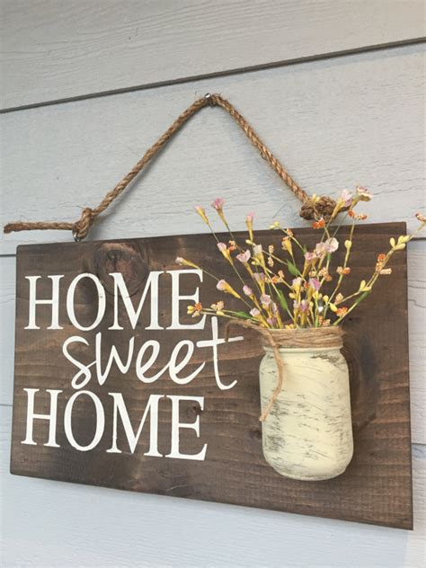 wooden home signs decor rustic outdoor home sweet home outdoor welcome by redroansigns