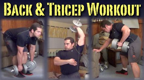 back triceps workout with dumbbells