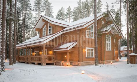 cottage rovaniemi helios luxurious modern wooden cottage by rovaniemi log