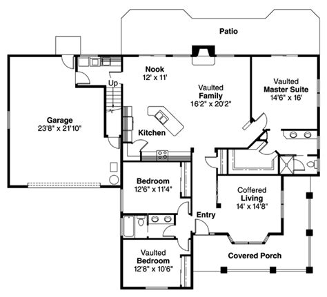 2000 sq ft bungalow floor plans house plan 69268 at familyhomeplans com