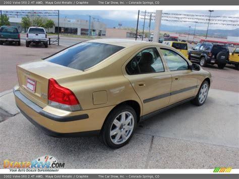 2002 volvo s60 2 4t awd gold metallic graphite