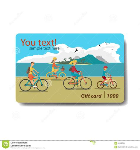Travel Gift Card - summer sale discount gift card branding design for travel stock illustration image