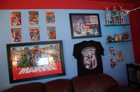 room marvel finally my home office the quot marvel room quot is complete silver surfer comic vine