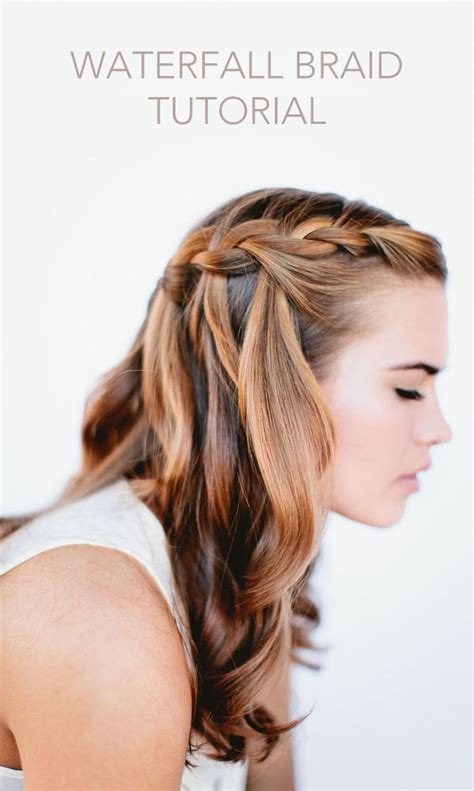 braids hairstyles how to do how to do waterfall braid wedding hairstyle for long hairs