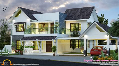 home design roof modern slope roof residence kerala home design and floor