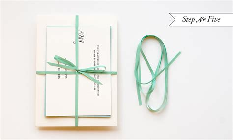 tying ribbon for wedding invitations diy quot blue box quot inspired rubber st wedding