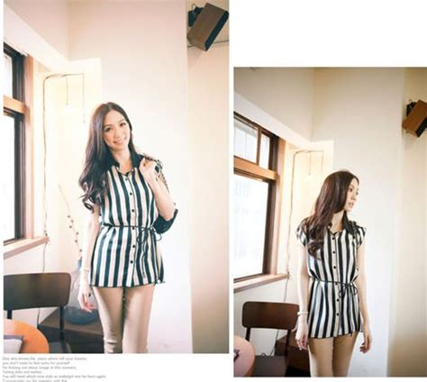 Blouse Import Jy774055 2 Model blouse wanita import garis garis cantik model terbaru
