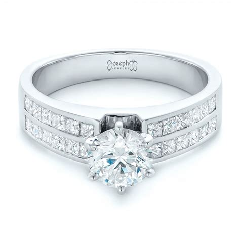 custom princess cut engagement ring 102399