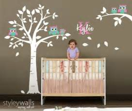 Wall Sticker Owl owl wall decal owls tree wall decal nursery sticker kids