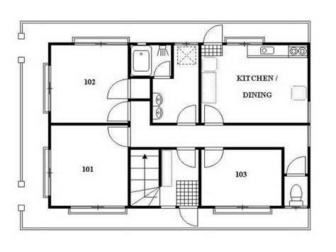 japanese home plans guest house floor japan house plans