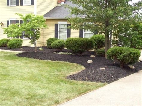 simple front yard landscaping plans front yard landscape mulch bid exle for the home