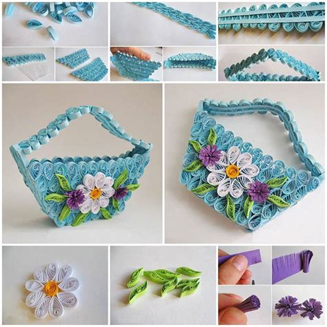 How To Make Your Own Quilling Paper - diy delicate quilling basket