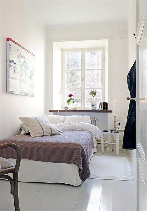 bedroom narrow bedroom design  couple  white