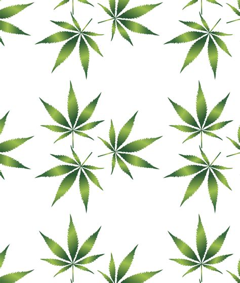 free clipart of a cannabis leaf pattern