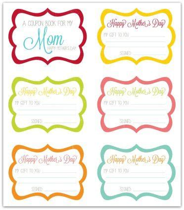 printable mother s day coupon book template free mother s day coupon book printable activity days