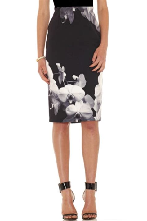 digital print orchid midi skirt haute on high