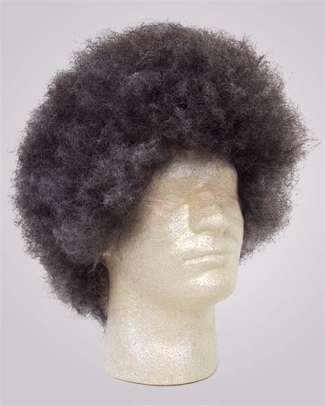 human hair in salt and pepper 6 inch human hair afro wig john blake s wigs and facial hair