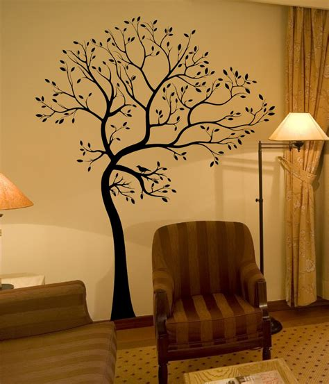 tree wall stickers for bedrooms large big tree bird wall decaldeco art sticker mural