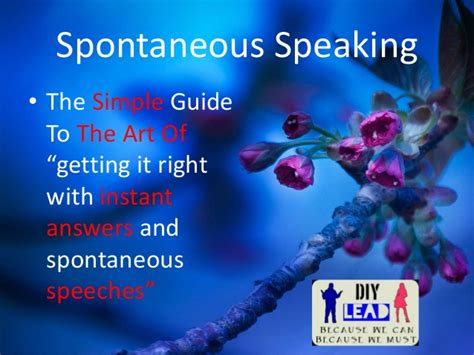 Simple And Spontaneous by Spontaneous Speech The Simple Guide To The Of